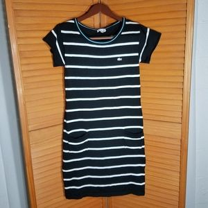 Lacoste Black & White Midi Dress